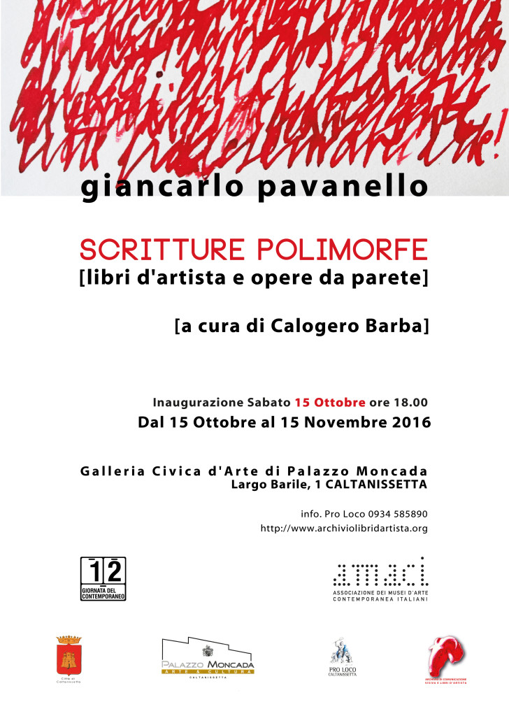 Giancarlo Pavanello scritture polimorfe