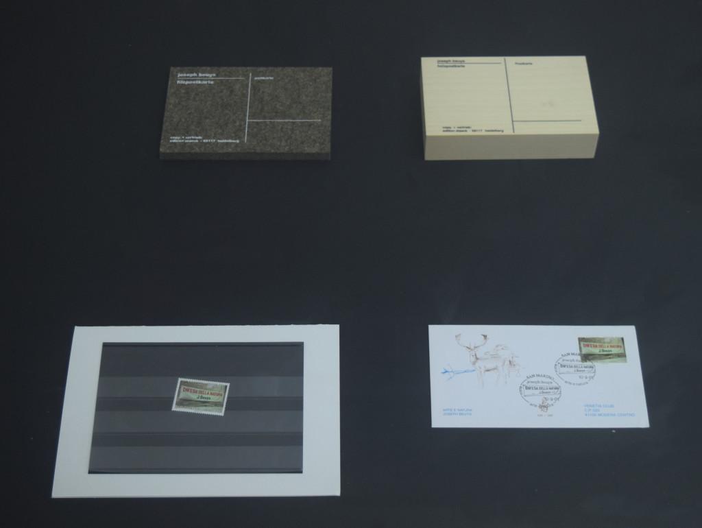 cartoline d'artista opere di Beuys